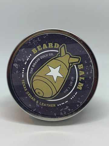 Texas Cedar & Leather Beard Balm - The Bravo Zulu Co.