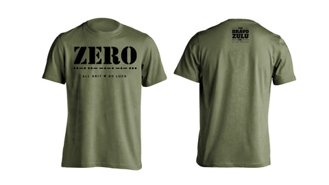 """Zero F***s All Grit No Luck"" PRE ORDER - The Bravo Zulu Co."