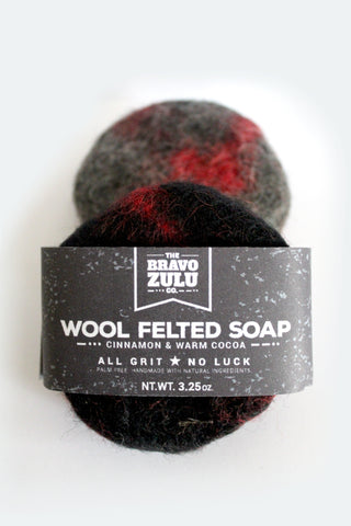 The Bravo Zulu Co. Wool Felted Soap - The Bravo Zulu Co.