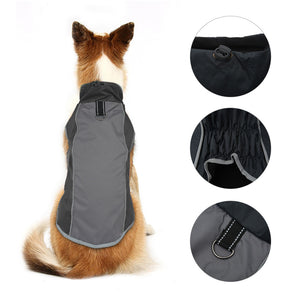 Pet Jacket Dog Clothes Coat Reflective Waterproof Jacket Winter Warm Coat Vest Puppy Clothing for Small Medium Large Dogs