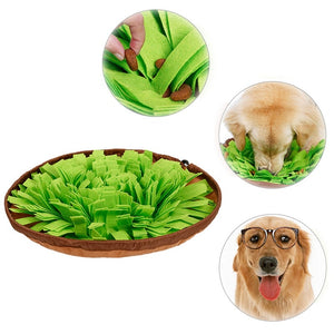Pet Toys Dog Round Pet Sniffing Pad Washable Training Blanket Feeding Mat Piecing Multi-color Dog Toys