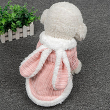 Carregar imagem no visualizador da galeria, Cute Rabbit Design Dog Hoodie Winter Pet Dog Clothes For Dogs Coat Jacket Cotton Ropa Perro French Bulldog Pug Pets Clothing