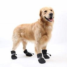 Cargar imagen en el visor de la galería, Winter Thick Warm 4pcs Pet Dog Shoes Anti-slip Waterproof Rain Snow Boots Footwear For Puppy Dog Socks Booties Pet Paw Care