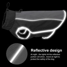 Load image into Gallery viewer, Pet Jacket Dog Clothes Coat Reflective Waterproof Jacket Winter Warm Coat Vest Puppy Clothing for Small Medium Large Dogs