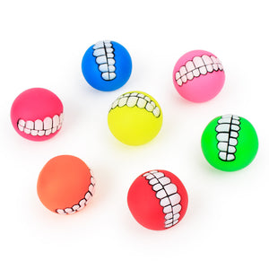 Funny Pets Dog Puppy Cat Ball Teeth Toy PVC Chew Sound Dogs Play Fetching Squeak Toys Pet Supplies dogs toys pets