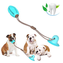 Load image into Gallery viewer, Dog Toy Silicon Suction Cup Tug Interactive Dog Ball Toys For Pet Chew Bite Tooth Cleaning Toothbrush Dogs Food Toys