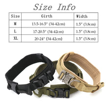 將圖片載入圖庫檢視器 Dog Collar Adjustable Military Tactical Pets Dog Collars Leash Control Handle Training Pet Cat Dog Collar For Small Large Dogs