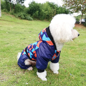 Pet Dog Clothes Winter Warm Jumpsuit Soft Breathable Hoodie Camouflage Coat Waterproof Costumes for Dogs Chihuahua Pet Supplies