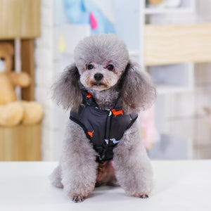 Pet Dog Down Jacket Vest Dog Clothes Autumn Winter Cotton Padded Coat For Dogs Clothes Puppy Thickened Stand Collar Down Jackets