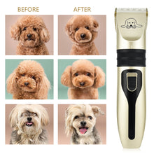 Load image into Gallery viewer, Dog Clippers Low Noise Pet Shaver Rechargeable Dog Trimmer Cordless Pet Grooming Tool Cat Animal Hair Cutter Trimmer Haircut