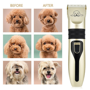 Dog Clippers Low Noise Pet Shaver Rechargeable Dog Trimmer Cordless Pet Grooming Tool Cat Animal Hair Cutter Trimmer Haircut
