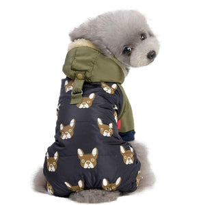 Dog Soft Cotton Jumpsuit Small Pet Pajamas Autumn Winter Warm Outfits Clothes Puppy Hoodie Clothes Chihuahua