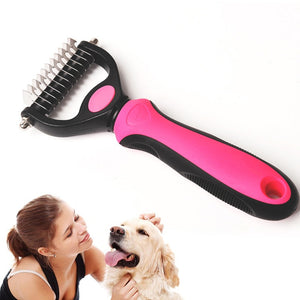 Hair Removal Comb for Dogs Cat Detangler Fur Trimming Dematting Deshedding Brush Grooming Tool  One/Double Side Comb