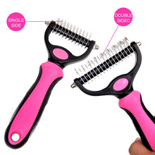 Load image into Gallery viewer, Hair Removal Comb for Dogs Cat Detangler Fur Trimming Dematting Deshedding Brush Grooming Tool  One/Double Side Comb