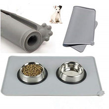 Load image into Gallery viewer, Waterproof Pet Mat For Dog Cat Solid Color Silicone Pet Food Pad Pet Bowl Drinking Mat Dog Feeding Placemat Easy Washing