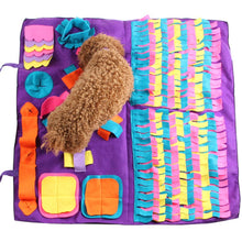 Load image into Gallery viewer, Pet Dog Snuffle Mat Pet Sniffing Training Blanket Detachable Fleece Pads Dog Mat Relieve Stress Nosework Puzzle Toy Pet Nose Pad