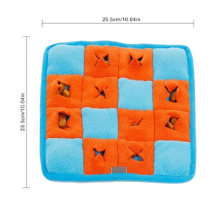 Pet Dog Snuffle Mat Pet Sniffing Training Blanket Detachable Fleece Pads Dog Mat Relieve Stress Nosework Puzzle Toy Pet Nose Pad