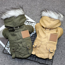 Load image into Gallery viewer, Dogs Winter Warm Down Jacket Jacket Medium and Small Dog Chihuahua Hooded Clothes Lightweight Hoodie