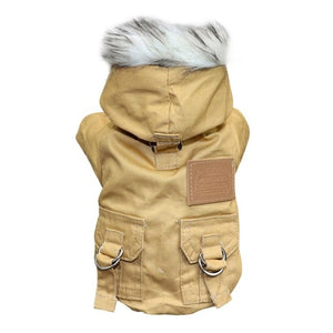Dogs Winter Warm Down Jacket Jacket Medium and Small Dog Chihuahua Hooded Clothes Lightweight Hoodie