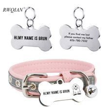 Cargar imagen en el visor de la galería, Custom Pet ID Tag Keychain Stainless Steel DIY Dog Cat Id Tags Personalized Carve Name Telphone Icon Number Pet Collar Nameplate