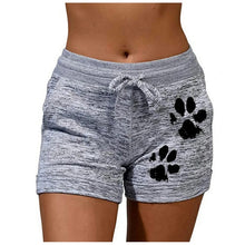 Cargar imagen en el visor de la galería, Women Sports Shorts Summer Dog Paw Quick-drying Skinny Shorts Casual Lady Elastic Waist Beach Correndo Short Pants Female #p5