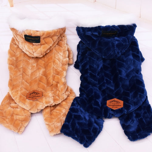 13 Style Pet Dog Clothes Winter Warm Big Jacket Cute And Four Legs Jumpsuit Thicken Pets Clothing For Teddy Home Dog Costume