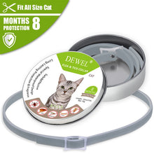 Load image into Gallery viewer, Dewel Cat Dog Collar Anti Flea Ticks Mosquitoes Outdoor Adjustable Pet Collars 8 Months Long-term Protection Pet Accessories