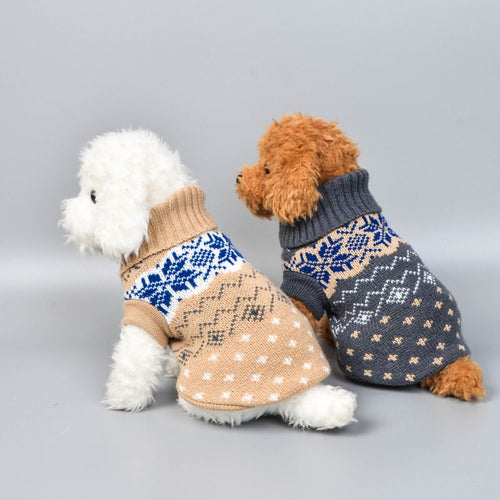 1Pc Winter Dog Sweater Small Dog Clothes Puppy Sweater For Pet Dog Knitting Crochet Cloth Christmas Dog Sweater Decoration