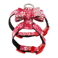 Load image into Gallery viewer, Chest Strap Collar Nylon Cat Harness Vest Japanese Printing Style Printed Pet Chest Strap Fabric Bowknot Dog Chest Strap