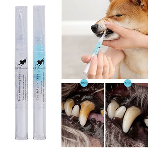 Pet Teeth Cleaning Kit Pet Beauty Toothbrush Dog Cat Tartar Dental Stone Cleaning Pen 5ml