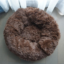 Load image into Gallery viewer, Pet Dog Bed Warm Fleece Round Dog Kennel House Long Plush Winter For Medium Large Dogs Cats Soft Sofa Cushion Mats