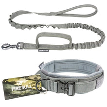 Load image into Gallery viewer, Military Tactical Dog Collar Elastic Bungee Leash K9 Military Dog Collar Leash For Medium Large Dogs Elastic Leads Rope Leashes