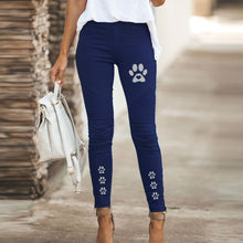 Load image into Gallery viewer, High Waist Pants Jeans Zipper Slim Leggings Tight Women Long Trousers Casual Streetwear Vintage Pants Cute Dog Paw Printing