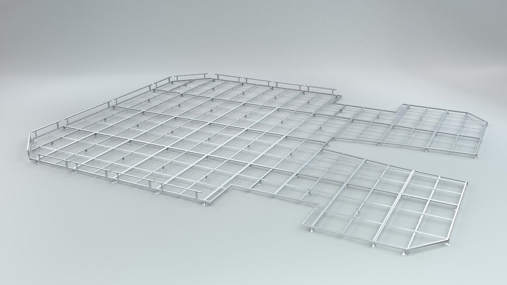 Ground Frame for High Jump Pit Olympic Round - Nordic Sport