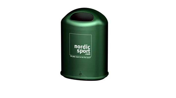 Trash Basket Otto, Green - Nordic Sport