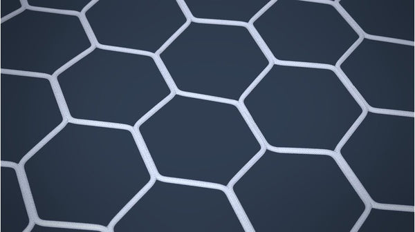 Net 11-a-side White Hexagon - Nordic Sport