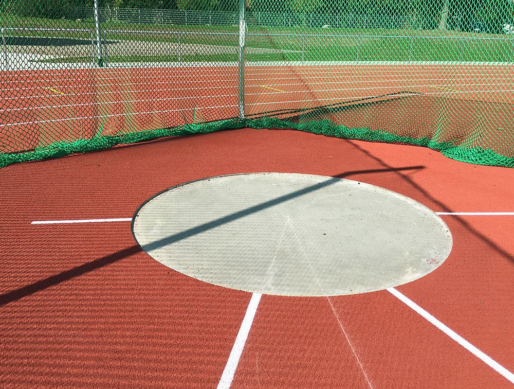 Discus circle in concrete cast - Nordic Sport