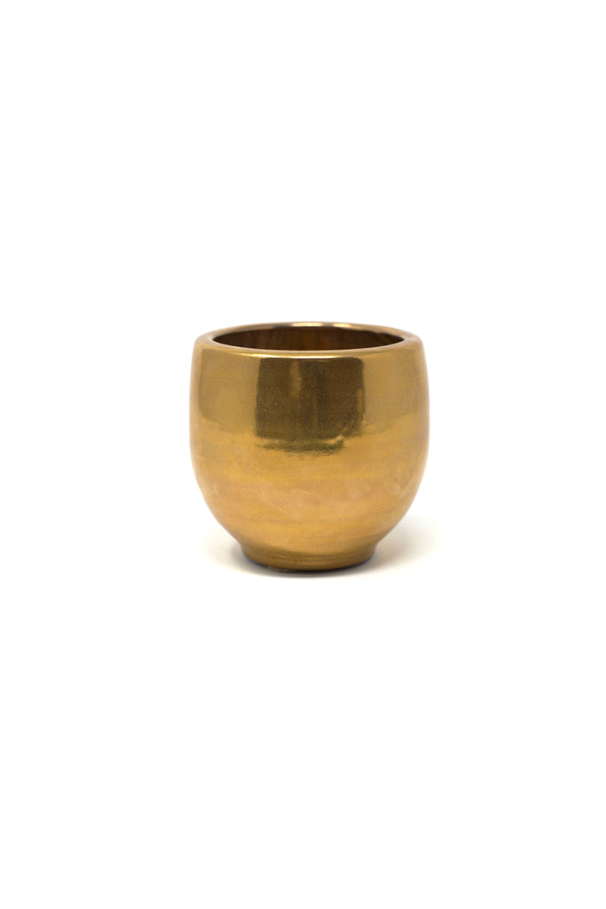Gold and Crushed Ruby Vase