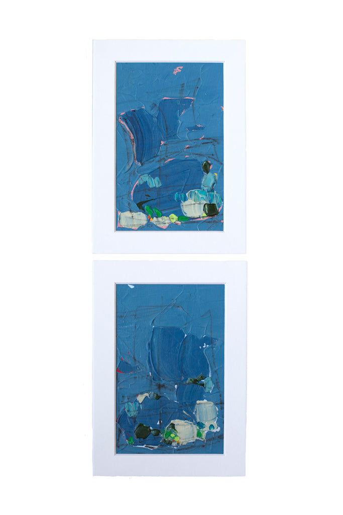 Alexis Walter Abstract Art- Any Clue I & II