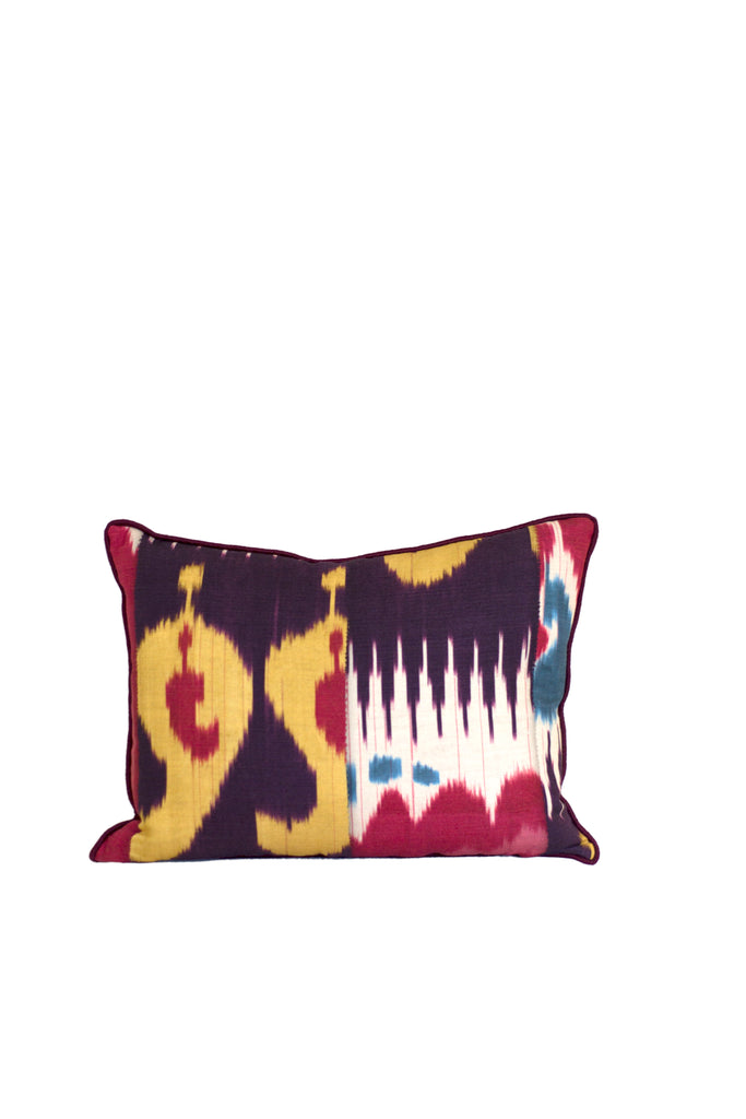 Silk Ikat Lumbar Pillow