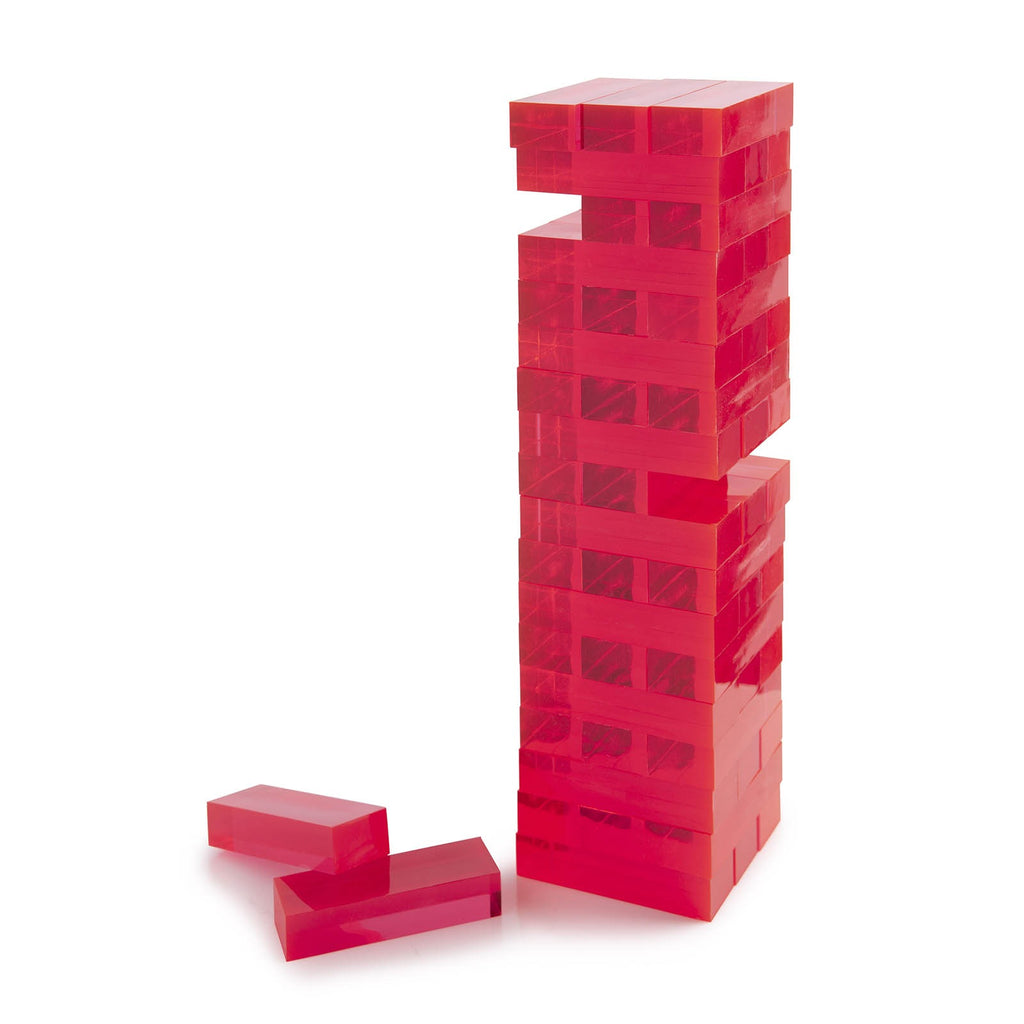 Acrylic Tumble Tower, Pink