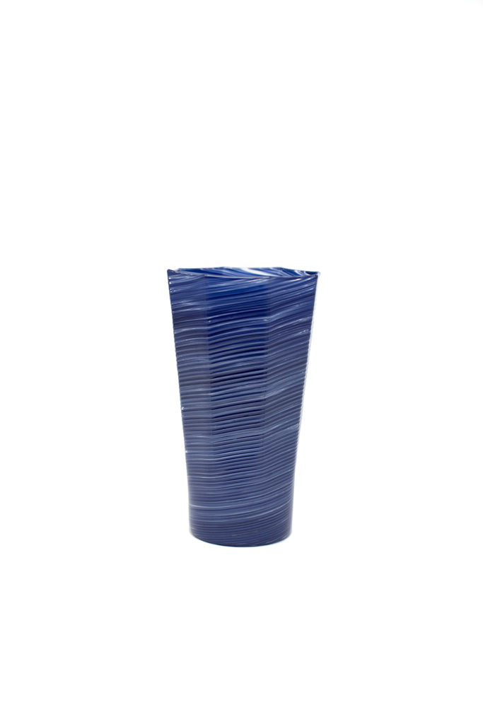 Tall Octagonal Glass, Indigo