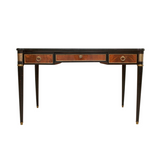 19th c. Louis XVI Desk with Burlwood Accents and Bronze Hardware