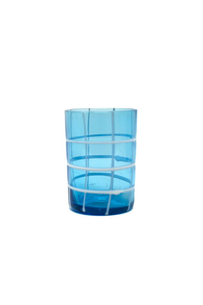 Blue and White Cocktail Glass
