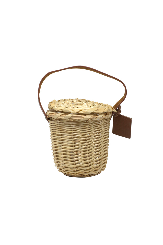 Small Tan Basket Bag