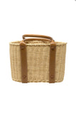Wicker Tote, Tan
