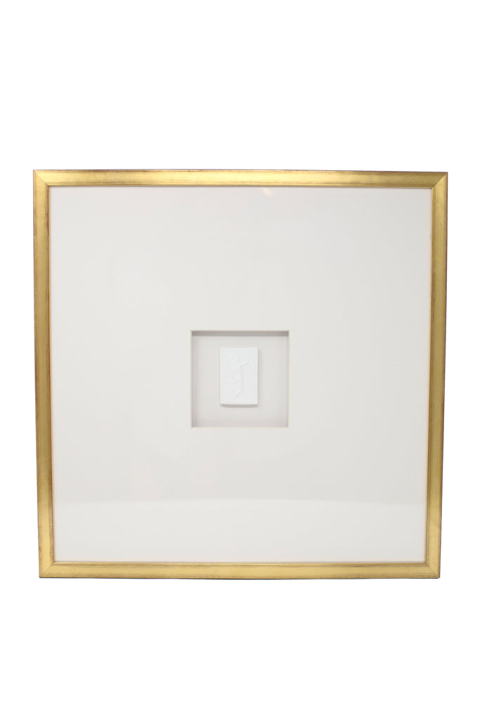 Single White Intaglio with Gold frame