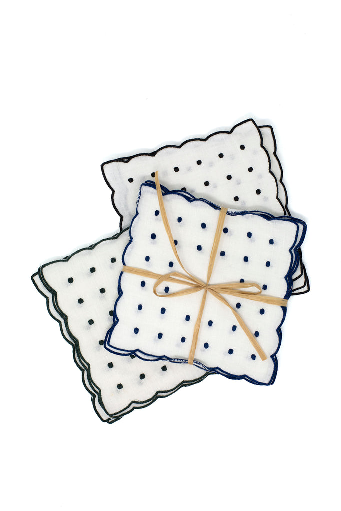 Scallop & Dots Set, Blue