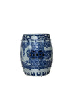 Blue and White Carved Dragon Garden Stool