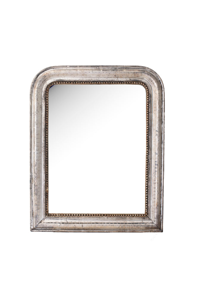 19th C. Silver Leaf Louis Philippe Mirror